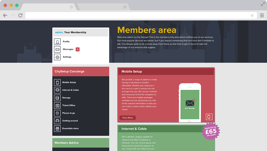 city-setups-members-dashboard